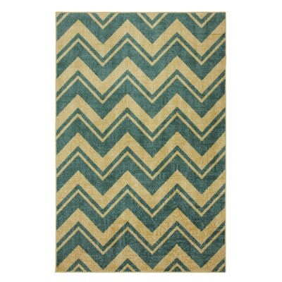 Strata Medium Blue Lascala Chevron Stripe Rug
