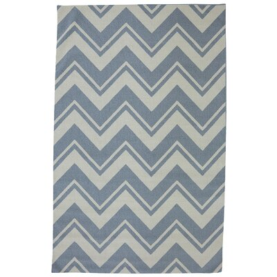 Mohawk Select Outdoor/Patio Blue Pool Zig Zag Rug