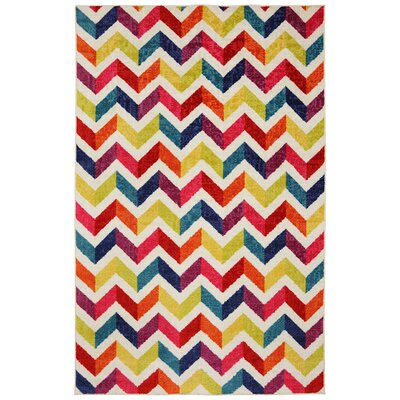 Mohawk Home Strata Multi Mixed Chevrons Pricm Rug