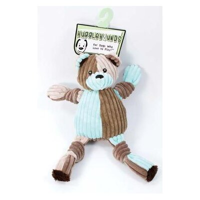 Hugglehounds Patchie Knottie Bear Dog Toy in Multi
