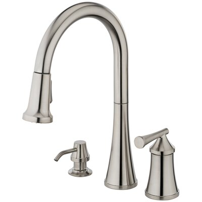 Estora Giorgino One Handle Widespread Pull-Out Kitchen Faucet
