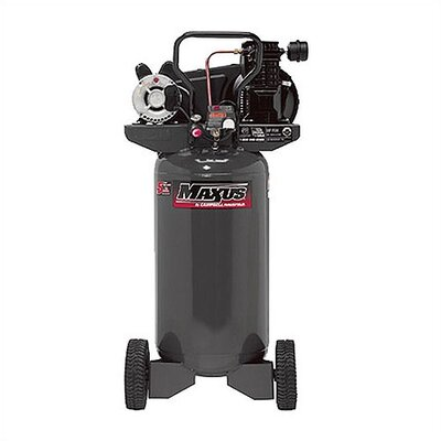 Maxus Electric Cast Iron Portable Single Stage 26 Gallon 6.6 SCFM Air Compressor