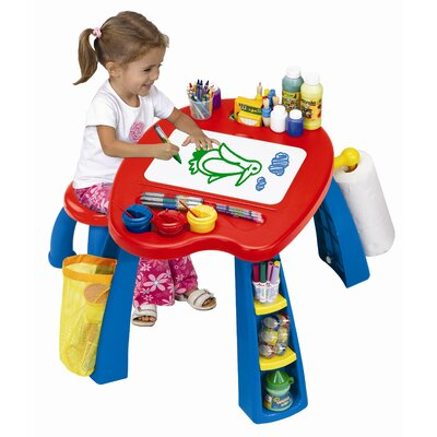 Grow 'n Up Crayola Creativity Play Station Kids' 2 Piece Table and Stool Set