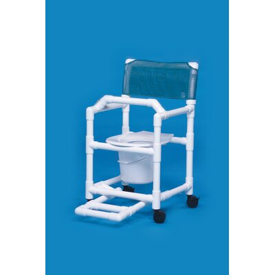 Innovative Products Unlimited Standard Line Commode with Footrest and Lap Bar