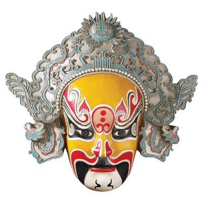 Design Toscano Peking Opera Mask Dian Wei Wall Sculpture