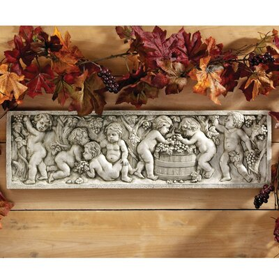 Design Toscano September Wine Harvest Wall Sculpture in Stone