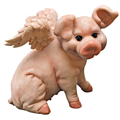 Design Toscano Hog Heaven Flying Pigs Sitting Statue
