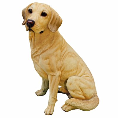 Golden Labrador Retriever Dog Figurine