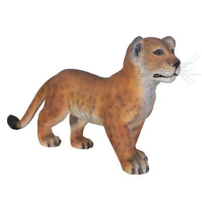 The Grand - Scale Wildlife Animal Standing Lion Cub Statue