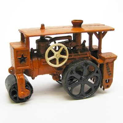 Design Toscano Steam Roller Replica Farm Toy Tractor Figurine