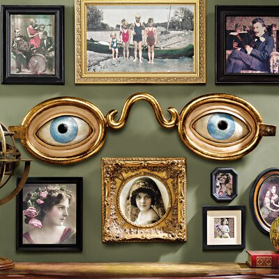 Folk Art Optometrist Trade Wall Sculpture