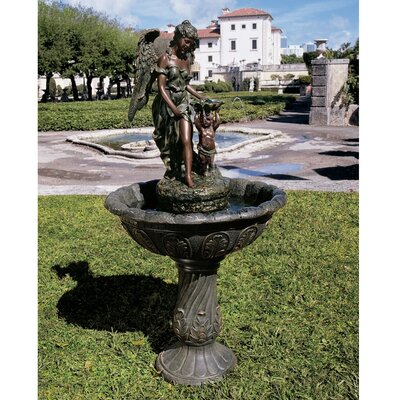 Resin Heavenly Moments Angel Sculptural Fountain