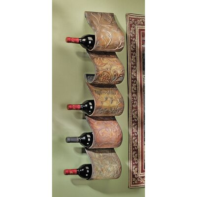 Cafe De Paris 5 Bottle Wall Mounted Wine Rack