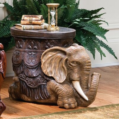 The Sultans Elephant Sculptural End Table