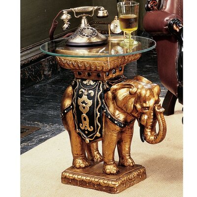 Design Toscano Maharajah Elephant Sculptural End Table