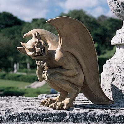 Design Toscano Legend of The Cambridge Hopping Gargoyle Statue