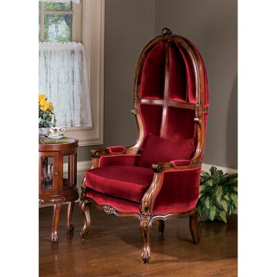 Victorian Balloon Fabric Arm Chair