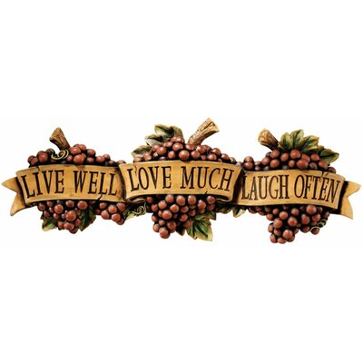 Design Toscano Live-Love-Laugh Wall Décor