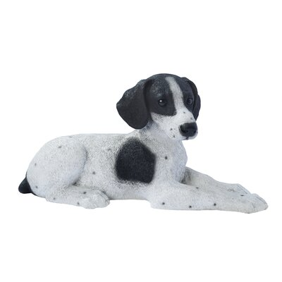 Design Toscano Pointer Puppy Dog Statue in Black and White