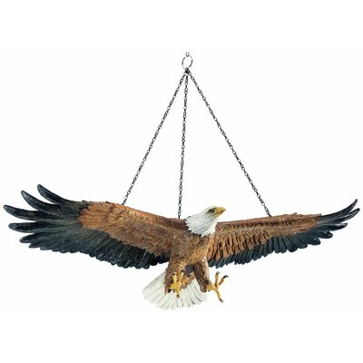 Flight of Freedom Hanging Eagle Sculpture (Set of 2)