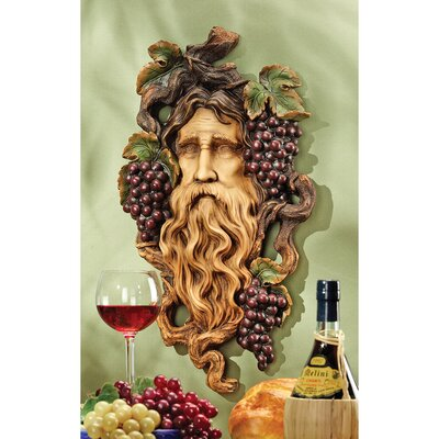 Design Toscano God of the Grape Harvest Wall Sculpture