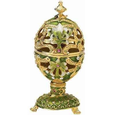 The Petroika Elena Faberge-Style Enameled Egg in Green