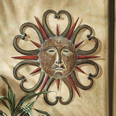 Dance of the Sun Metal Wall Sculpture in Multi-Toned Weathered