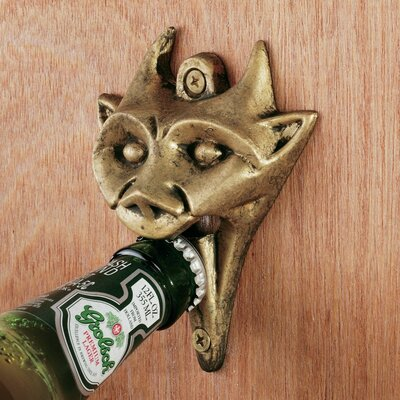 Design Toscano Authentic Gargoyle Bottle Opener in Antique Brass