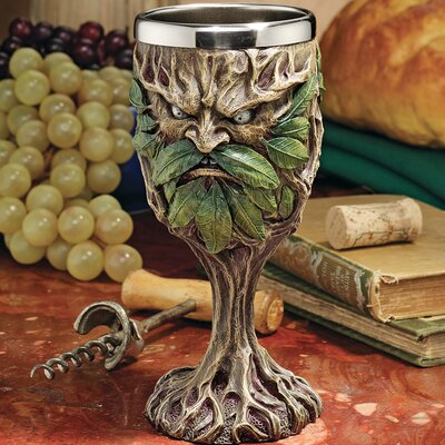 Design Toscano Forest Spirits Greenman Grendal the Green Goblet
