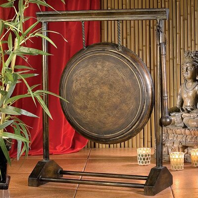 Design Toscano Sheng Kwong Authentic Metal Gong in Antiqued