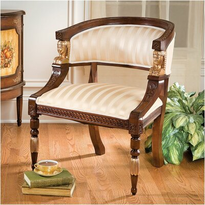 Design Toscano Egyptian Revival Fabric Side Chair