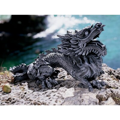 Benevolent Asian Dragon Statue