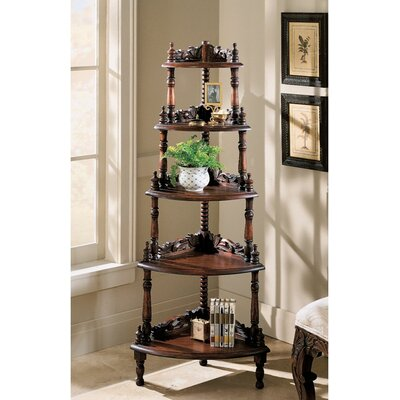 Five Tier Edwardian Corner Shelf