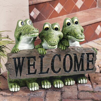 Ragin' Cajun Crcodile Welcome Statue