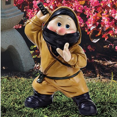 Far East Gnome Statue Set Ninja Statue