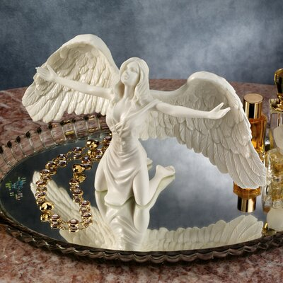 Design Toscano Pray for Peace Bonded Marble Angel Statue