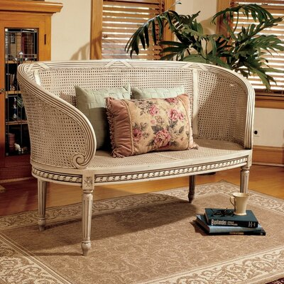 Design Toscano Double Griffin Colonnade Wooden Entryway Bench