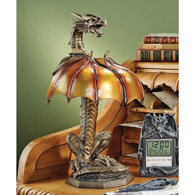 Design Toscano Dragon Strike Illuminated Sculpture