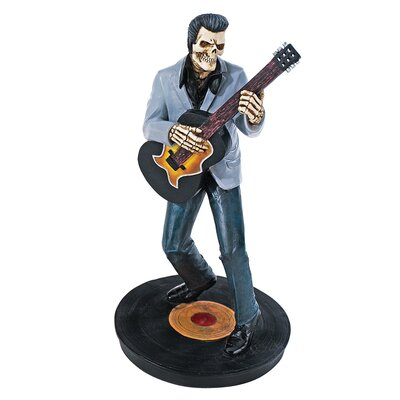 Design Toscano The Undead Legendary Icons Rock 'n Roll King Skeleton Statue