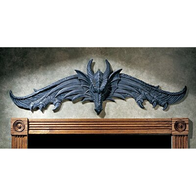 Design Toscano The Hardwick Dragon Wall Pediment (Set of 2)
