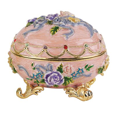 Renaissance Faberge Style Enameled Egg Couleur Rose