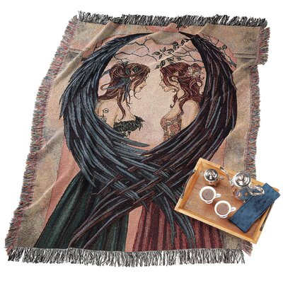 Design Toscano Angel Sisters Cotton Throw Blanket