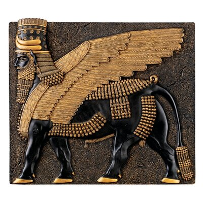 Design Toscano Assyrian Winged Bull Wall Sculpture
