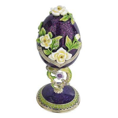 Spring Bouquet Collection Faberge Style Enameled Egg