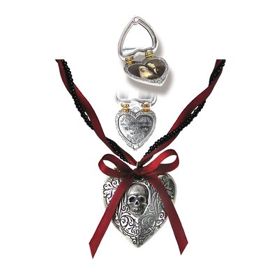 Reliquary Gothic Heart Locket by Alchemy Jewelry