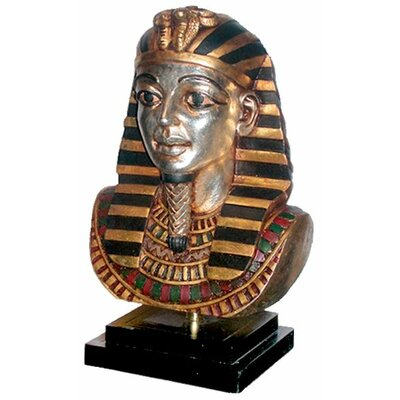 Egyptian King Tutankhamen on Museum Mount Statue