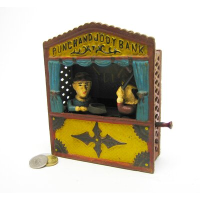 Punch and Judy Theater Collectors' Mechanical Coin Bank Figurine