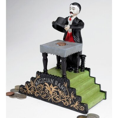Authentic Maitland the Magician Foundry Mechanical Bank Figurine