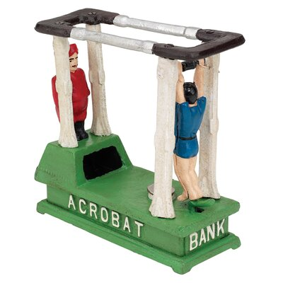 The Acrobat Collectors' Mechanical Coin Bank Figurine