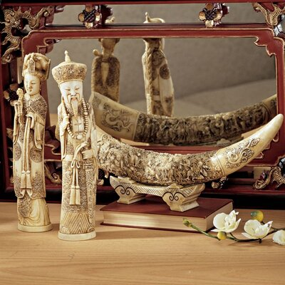 3 Piece Mandarin Ivory Oliphants Figurine